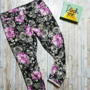 🌹Candies floral print skinny jeans